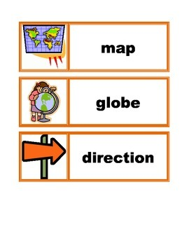 Word Wall Vocabulary Cards: Map Skills