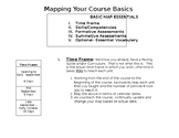 Mapping Your Course Basics