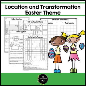 Mapping and Location Skills Easter Themed