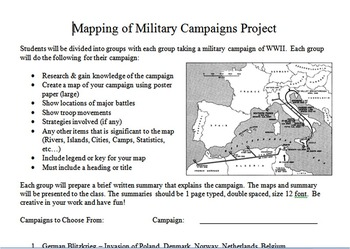 Mapping of World War II Military Campaigns Project
