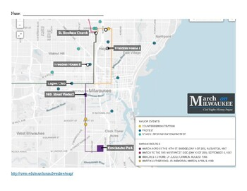 Mapping the Civil Rights Marches in Milwaukee