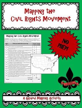 Mapping the Civil Rights Movement--No PREP!