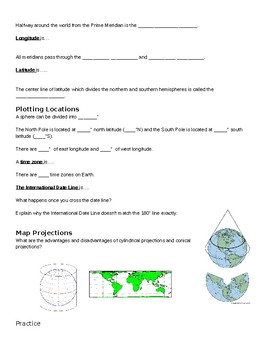 Mapping the Earth Guided Notes