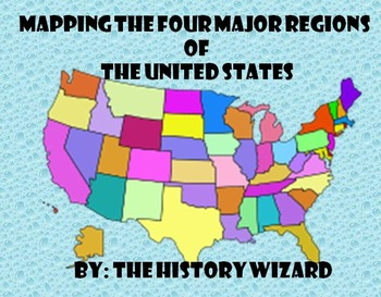 Mapping the Four Major Regions of the United States