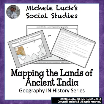 Mapping the Lands of Ancient India Activity