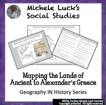 Mapping the Lands of Ancient to Alexander's Greece Activity