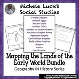 Mapping the Lands of the Ancient & Early World Activity Bundle