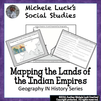 Mapping the Lands of the Indian Empires of Mauryan and Gup