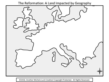 Mapping the Lands of the Reformation Activity Catholic & Protestant