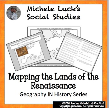 Mapping the Lands of the Renaissance Activity - Italian and Northern