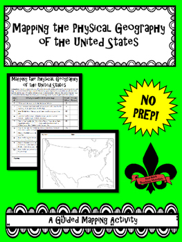 Mapping the Physical Geography of the United States--No PREP!