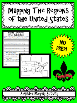 Mapping the Regions of the United States--No PREP!
