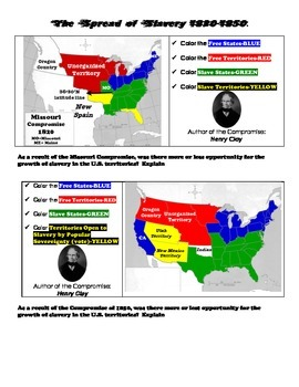 Mapping the Spread of Slavery: 1820-1857
