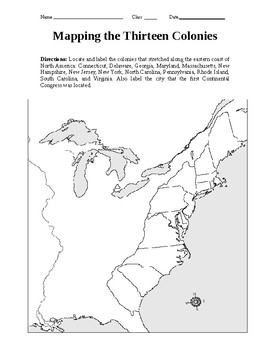 Mapping the Thirteen Colonies