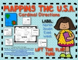 Mapping the USA: Label Cardinal Directions for Young Students! Lift the Flap Fun
