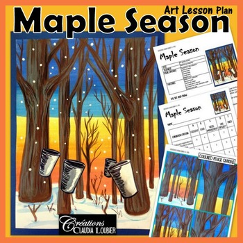 Maple Sugar Season Art Lesson for kids, Sugar Camp !
