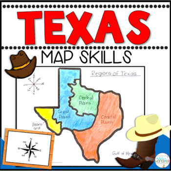 Texas Map Skills Task Cards