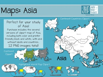 Maps: Asia (clipart)