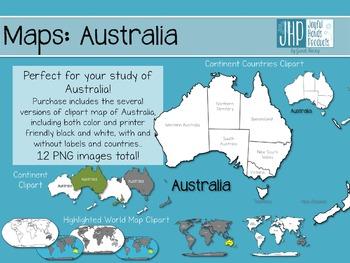 Maps: Australia (clipart)