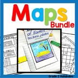 Maps BUNDLE - Close Reading, Map Key, Scale, Theme, & Political