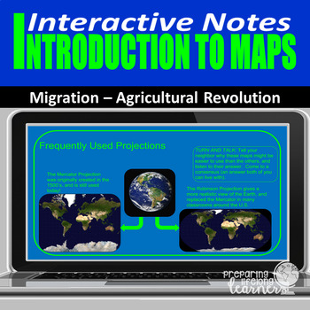 Maps (Basic Geography) Interactive Notes to Use With Google Slides