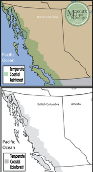 Maps: Coastal Rainforest - British Colombia {Messare Clips & Design}