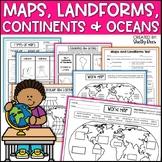Maps, Continents, Landforms, Map Skills - Interactive Soci