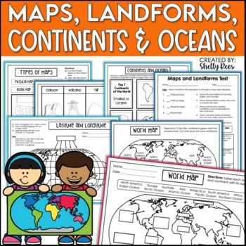 7th grade social studies history teaching resources lesson plans notebook maps continents landforms map skills interactive social studies notebook publicscrutiny Images