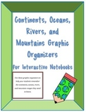 Maps, Continents, Oceans, Rivers, Mountains, Interactive Notebooks