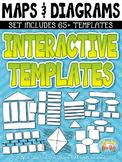 Maps & Diagrams Interactive Templates Set 2 {Zip-A-Dee-Doo-Dah Designs}