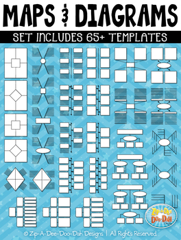 Maps & Diagrams Interactive Templates Set 2 {Zip-A-Dee-Doo-Dah Designs}