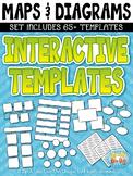 Maps & Diagrams Interactive Templates Set 3 {Zip-A-Dee-Doo-Dah Designs}