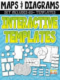 Maps & Diagrams Interactive Templates Set 1 {Zip-A-Dee-Doo-Dah Designs}