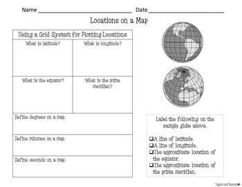 Maps - Earth Science Scaffolded Notes and INB Activities