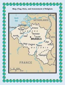 Belgium Geography, Flag, Maps, Assessment - Map Skills and Data Analysis