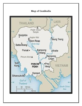 Geography, Flag, Maps Assessment on Cambodia - Map Skills and Data Analysis