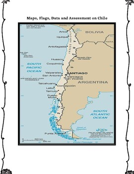 Chile Geography, Flag, Maps, Assessment - Map Skills and Data Analysis