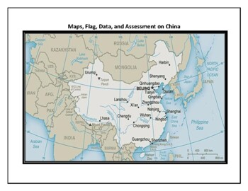 China Geography, Flag, Maps, Assessment - Map Skills and Data Analysis