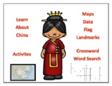 China Geography, Flag, Maps, Assessment - Map Skills and D