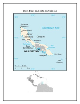 Geography, Flag, Maps, Assessment on Curacao - Map Skills and Data Analysis
