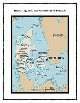 Geography, Flag, Maps, Assessment on Denmark - Map Skills and Data Analysis