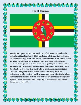 Geography, Flag, Maps, Assessment on Dominica - Map Skills and Data Analysis