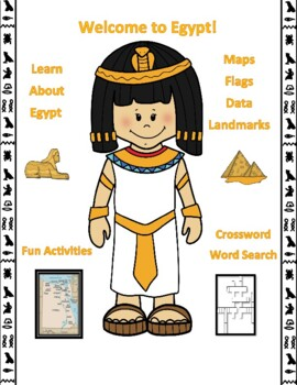 Egypt Geography, Flag, Maps Assessment - Map Skills and Data Analysis