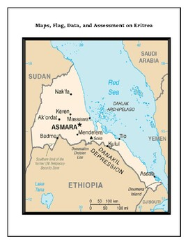 Eritrea Geography, Flag, Maps Assessment - Map Skills and Data Analysis