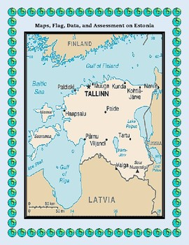 Estonia Geography, Flag, Maps Assessment - Map Skills and Data Analysis