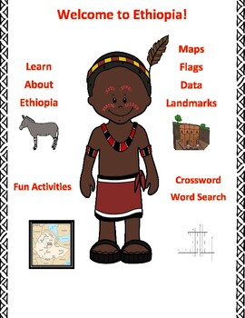Geography, Flag, Maps, Assessment on Ethiopia - Map Skills