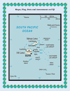 Geography, Flag, Maps, Assessment on Fiji - Map Skills and