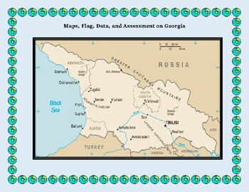 Geography, Flag, Maps, Assessment on Georgia - Map Skills