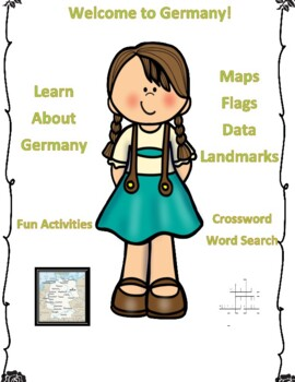 Germany Geography, Flag, Maps, Assessment - Map Skills and Data Analysis