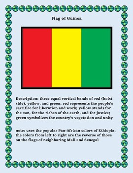 Guinea Geography, Flag, Maps Assessment - Map Skills and Data Analysis